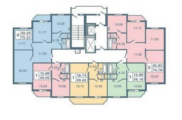 Типовой жилой дом серии 137 планировки квартир, фото.